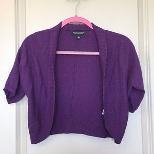 Banana Republic Purple Cropped Cardigan